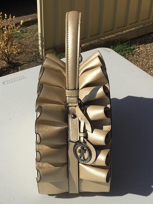 Gold Semi-Circle Ladies Handbag
