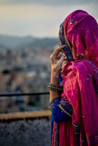 tessymorelli_Sikh_portrait_blue_turban (