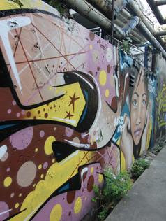 Girls Face Mural