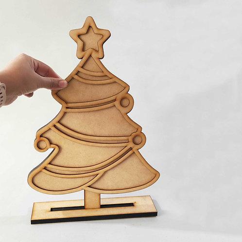 Arbolito navideño falso vitral