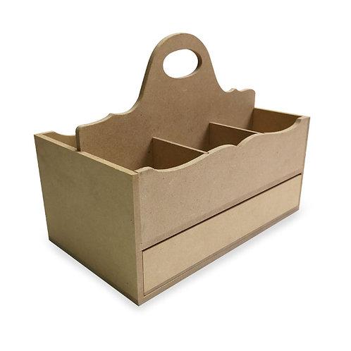 Organizador de pinceles con cajón