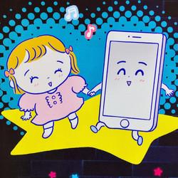 Baby-mo2021春夏号「0才ベビーとスマホ&YouTube」でイラスト描かせていただきました。