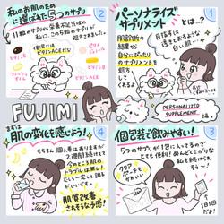 パーソナライズスキンケアを提案するFUJIMIのPR漫画(サプリメント編)