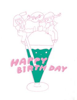 ガールズバンド「HAPPY BIRTH DAY」グッズデザイン