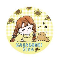 シンガーソングライターの坂口喜咲さんの来場特典缶バッチをデザインしました