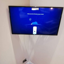 Tv mounted on the swivel wall bracket with cables concealed Balrath Duleek Co Meath