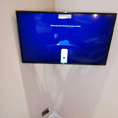 Tv mounted on the swivel wall bracket in Balrath Duleek Co Meath