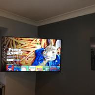 Tv mounted on the swivel wall bracket in Blackcastle Navan Co Meath