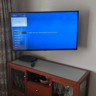 Sky Q box and Tv installation  in Drogheda Co Louth
