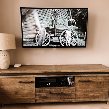 Tv and Saorview installation, living room in newly built home in Leixlip, Co Kildare