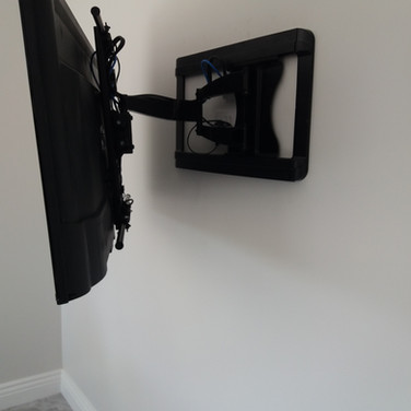 Tv mounted on the wall for a client from Julianstown in Co Meath