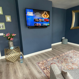 Sky tv installation and cable management.
