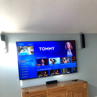 """80"""" tv mounted on the wall for a client from Woodland Ratoath Co Meath"""