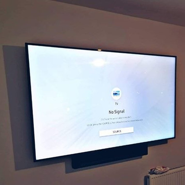"""65"""" tv and soundbar mounted on the wall in Dunshaughlin Co Meath"""