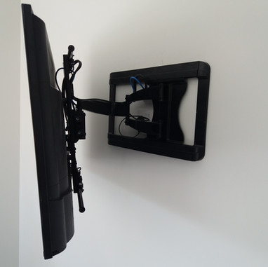 Tv mounted on the extendable wall bracket in Julianstown County Meath