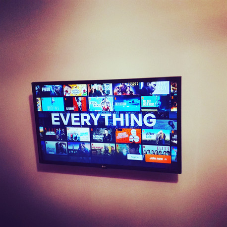 Commercial tv installation in Airbnb apartment.