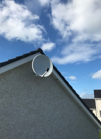 80 CM SOLID SATELLITE DISH WE HAVE INSTALLED IN SUMMERHILL IN COUNTY MEATH