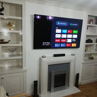 """65 """" Sony tv mounted on the wall for a client from Saggart Dublin 24"""