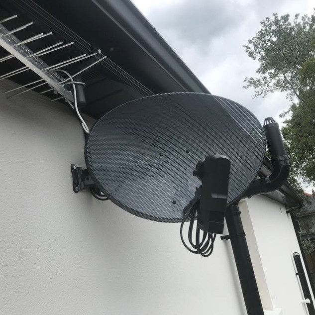 FREE TO AIR AND SAORVIEW SYSTEM  INSTALLED IN PALMERSTON VILLAS IN RATHMINES IN DUBLIN 6