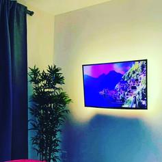 Tv installation in the bedroom