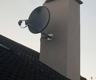 Solid satellite dish installation pointing astra 28 and Hotbird in Balrath Duleek Co Meath