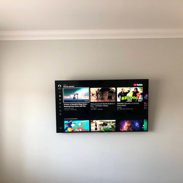 Tv wall mounting with all cables concealed within the walls in Cnoc Tiarnach Dunshaughlin County Meath