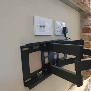 Swivel wall bracket installation and cables management Ashbourne Co Meath