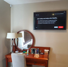 Tv and Wifi installation in the hotel room