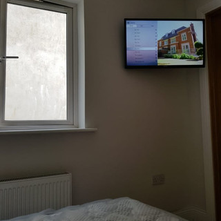 Tv installed on the swivel wall bracket in Newmarket Co Cork.jp