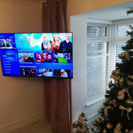 WE HAVE BOTH INSTALLED AN EXTENDABLE TV WALL BRACKET AND HIDDEN BOTH ALL CABLES AND SKY BOX BEHIND THE TV  FOR A CLIENT FROM HARTSTOWN DUBLIN 15