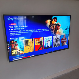 """75 """" tv installation and Sky box management"""