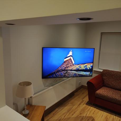 Tv mounted on the swivel wall bracket in Lucan, Dublin 20