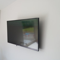 Tv mounted on the wall for a client from North County Dublin