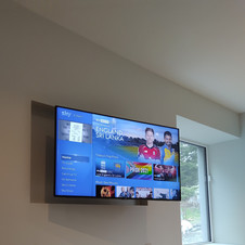 Sky tv installation with both box and cables concealed in Balinteer Park Dublin City
