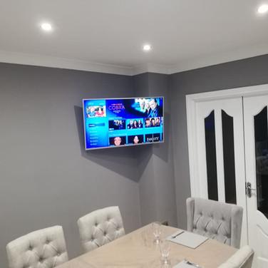 Tv mounted on the swivel wall bracket in Navan Co Meath