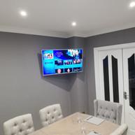 Tv mounted on the swivel wall bracket in Blackcastle Demesne Navan Co Meath