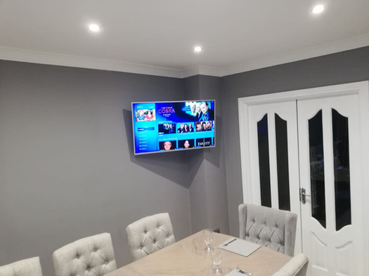 Tv mounted on the swivel wall bracket with all cables concealed  Blackcastle Navan Co Meath