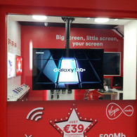 Commercial tv installation our guys did in Virgin Media store Ilac Shopping Centre Dublin 1
