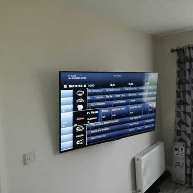 We have mounted tv on the  Swivel wall bracket in Drogheda Co Louth