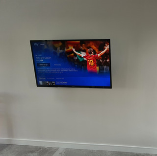 SKY TV INSTALLATION WITH BOXES AND CABLES HIDDEN FROM THE VIEW