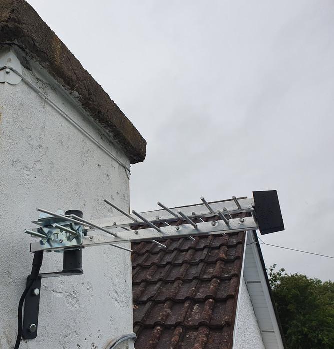 Aerial installation in Clonalvy Co Meath