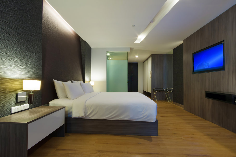 luxury modern hotel room, Bangkok, Thail