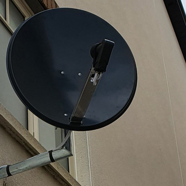 Solid satellite dish installation we have completed for a client from Sutton Dublin 13