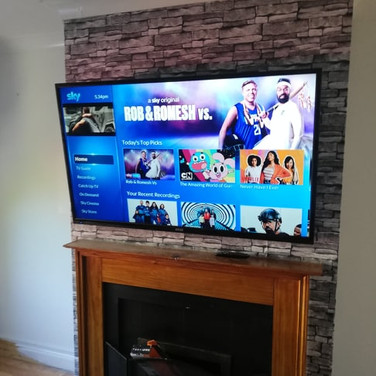Tv mounted on the wall for a client from Applewood  Swords North County Dublin