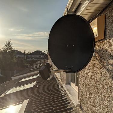 Solid satellite dish installation Sebury Malahide