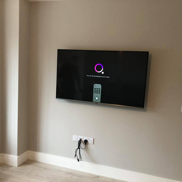 Tv wall mounting and cable management in Leixlip Co Kildare