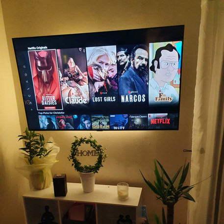 Tv installation and cable management