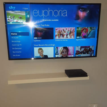 Tv wall mounting with Sky box hidden from view in Miltree Ratoath Co Meath