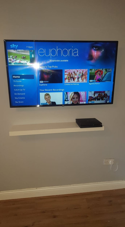 Tv mounted on the wall in Ratoath Co Meath