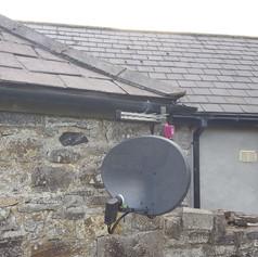 Satellite dish and Saorview aerial installation in Ballybin Road